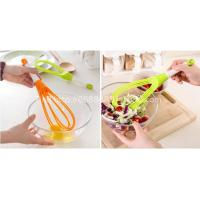 Wholesale New Design Colorful Silicone Egg Whisk/Beater With Rotatable Handle from china suppliers