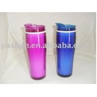 450ml 15OZ Promotion Coffee Cup,double Plastic Hot Coffee Thermos Mug Gift Water Bottle