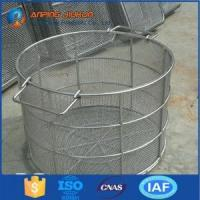 Wholesale Hot Selling SGS Approved stainless steel kitchen cooking wire mesh basket from china suppliers