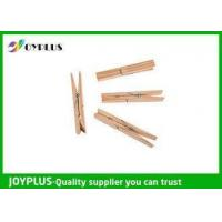 Safety Household Plastic Clothes Pegs Wooden Clips For Clothes OEM / ODM Available