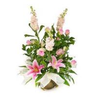 Wholesale Corporate Gifts Pretty in Pink Flower Basket from china suppliers