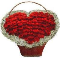 Wholesale More Than Words Heart-Shaped Roses Basket from china suppliers