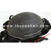 Buy cheap Toupee for Men Stock Fine welded mono hair systems FWM from wholesalers