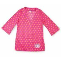 Wholesale Monogrammed Tunic - Monogrammed Cover Up - Bright Polka Dots from china suppliers
