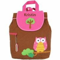 Wholesale Monogrammed Quilted Backpack by Stephen Joseph - Owl Backpack from china suppliers