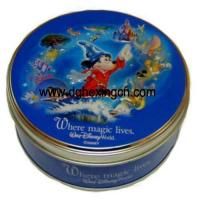 China Round customized design decorative cookie cake tin can on sale
