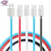 High Light Aluminium Alloy Shell Type C Cell Phone Cables with TPE Jelly Line