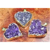 Druzy Ring Adjustable Gold Heart Cluster LR49 Healing Crystals And Stones $ 11.79