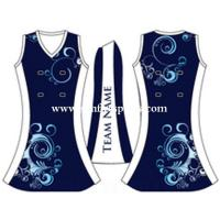 Wholesale Full sublimation custom jersey women netball uniforms dress from china suppliers