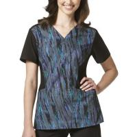 Wholesale Stretch Fabrics(421) 'FFX Sport' Mock Wrap Print Top from china suppliers