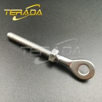 Buy cheap Stainless Steel Wire Rope Threaded Swage Plate Eye Terminal Fittings from wholesalers