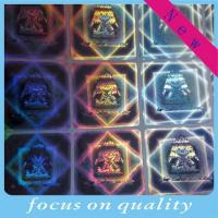 Wholesale Gold hologram sticker labels with laser making from china suppliers