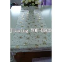 bronzed organza table runner for christmas