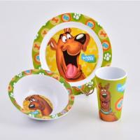 Wholesale Wholesale 3PCS Unbreakable Melamine Kids Plate Bowl And Cup Set from china suppliers