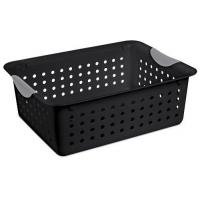 Wholesale Sterilite 16249006 Medium Black Ultra Basket with Titanium Inserts,6-Pack-Baskets,Bins & Containers from china suppliers
