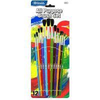 Wholesale Arts & Crafts BAZIC Asst. Size Paint Brush Set (12/Pack) $ 3.99 from china suppliers