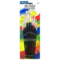 Wholesale Arts & Crafts BAZIC Asst. Size Oil Paint Brush Set (9/Pack) $ 3.99 from china suppliers