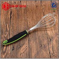 Stainelss Steel Egg Whisk & Beater with Soft Grip Handle