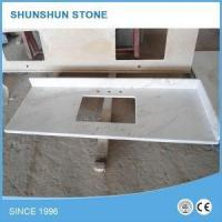 Wholesale Prefab Volakas White Marble Bathroom Vanity Top from china suppliers