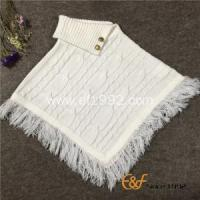 China Uneven Fold Neck Design Pullover Sweater Poncho on sale