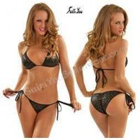 Wholesale Quick Ship Swimsuits Scrunch Baja Bikini, Sequin Fabric, Quick Ship from china suppliers