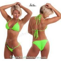 Wholesale Custom Competition Bikinis Solid Lycra Fabrics, Baja Swimsuit, Quick Ship from china suppliers
