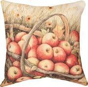 HALLOWEEN AND FALL APPLE HARVEST BASKET THROW PILLOW - INDOOR/OUTDOOR - MANUAL WOODWORKERS