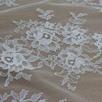 Lace Fabric Latest Fancy 100%nylon Lace Fabric Wholesale (E8046) for Bridal Dresses