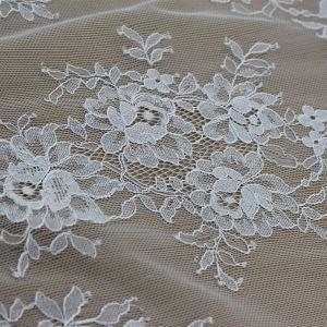 Quality Lace Fabric Latest Fancy 100%nylon Lace Fabric Wholesale (E8046) for Bridal Dresses for sale