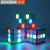 Buy cheap Creative LED Disco Light Magic Cube Stereo Speaker With Built-in Microphone from wholesalers