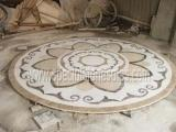 Wholesale Stone Tiles & Slabs Polishing Round Stone Waterjet Medallions In Your Own Designs from china suppliers