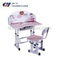 Wholesale painting school children desk and chair with low price from china suppliers