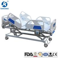 Buy cheap 3 Crank Functional Manual Hospital ICU Bed with ABS Headboards from wholesalers