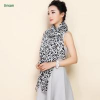 Wholesale Custom Leopard Print Sik Chiffon Scarf Wholesale Cheap Price from china suppliers
