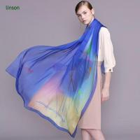Wholesale 100% Silk Chiffon Scarf Digital Printing/6mm Chiffon Soft Sheer Fashion Scarf With Beautiful Color from china suppliers
