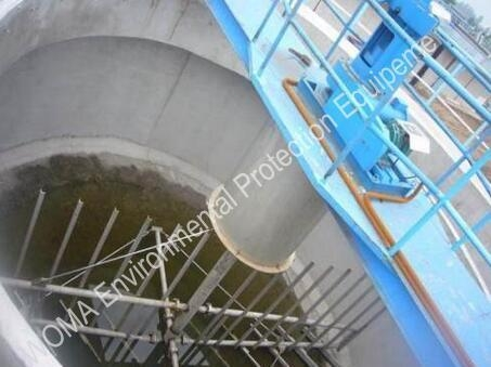 China Suspended Center-drive Sludge Thickener in Thickening Tank