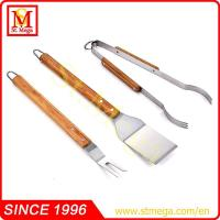 Wooden Handle BBQ Tool set