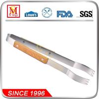 Wholesale 15-Inch Wooden Handle BBQ Grill Tong from china suppliers