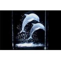 China 3d Laser Dolphin Crystal Cubes Gifts on sale