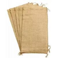Wholesale Flood Bags Gunny Sand Sacks Jute Burlap Sand Bags Self-tie with Non-woven on Large Size from china suppliers