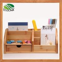 Wholesale Eco-friendly Bamboo Space Saving Desk Storage Caddy Organizer Accessories from china suppliers