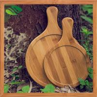 Wholesale High Quality Round Bamboo Pizza Plate/Pizza Tray from china suppliers
