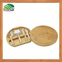 Wholesale Premium Bamboo Cheese Board with 4 Piece Knife Set from china suppliers