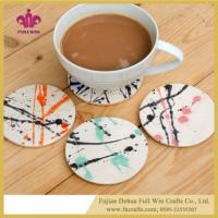 Wholesale Customized Ceramic Coaster for Wine Coffee Tea Beverage Coaster from china suppliers