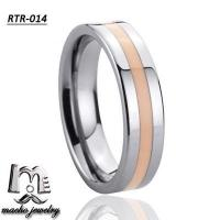 China resin inlay tungsten ring tungsten wedding rings RTR-014 on sale