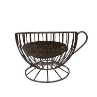 Wholesale Metal black storage basket Coffee Cup Keeper from china suppliers