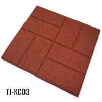 China 40cm*40cm Outdoor Recycled Rubber Tiles Patio Pavers on sale