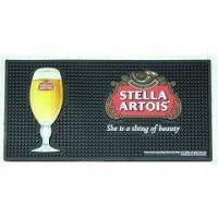 Wholesale Square Bar Glass Drying Mats Beer Bar Mats Printed Bar Runners PVC Rubber Drip Mat from china suppliers