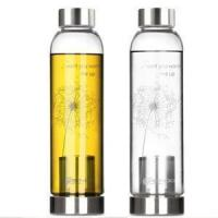 Wholesale Wholesale Portable BPA Heat Resistant Pyrex Glass Water Bottle With Infuser from china suppliers