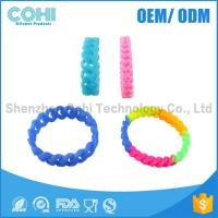 Wholesale Hot fashion promotional twist shape silicone bracelet from china suppliers